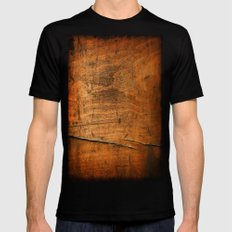 Wood Texture 340 Mens Fitted Tee Black SMALL