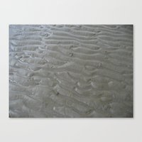 Ripples in the sand (two) Canvas Print