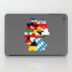 germany regions flag map iPad Case