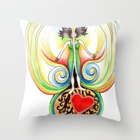 Energy Volcano Throw Pillow