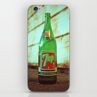 Nostalgic 7up bottle iPhone & iPod Skin