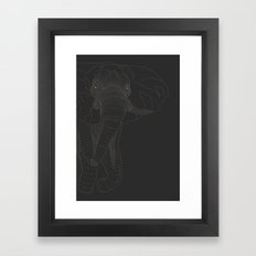 All lines lead to the...Elephant Framed Art Print