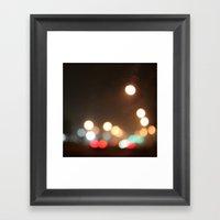 Fog Street Square Framed Art Print