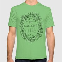 Awesome life Mens Fitted Tee Grass SMALL