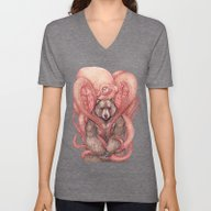 THE KRAKEN AND THE KODIA… Unisex V-Neck