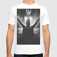 Darth Vader Rocks The Pa… Mens Fitted Tee White SMALL