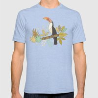 Forest Toucan  Mens Fitted Tee Tri-Blue SMALL