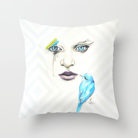 Silent Songs Throw Pillow