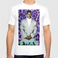 Carlton Swagz Mens Fitted Tee White SMALL