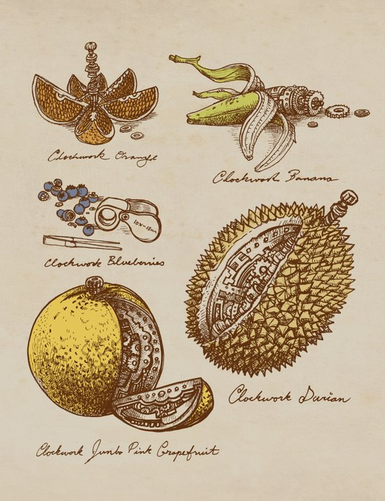 Steampunk Fruit  Art Print