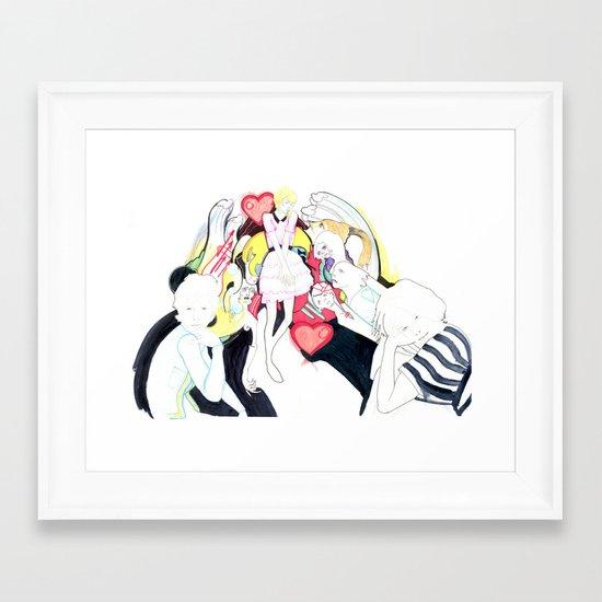 Whe love Fashion 2 Framed Art Print