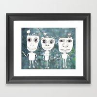 i'm not sure who you are Framed Art Print