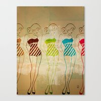 Retro Swimsuit Canvas Print
