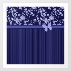 Colorful combined pattern in blue tones.  Art Print