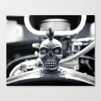 Gritty Skull Canvas Print