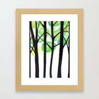 blacks trees Framed Art Print