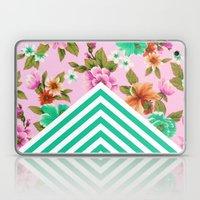 Tropical Floral Chevron Laptop & iPad Skin