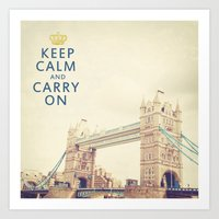 Keep Calm London Art Print