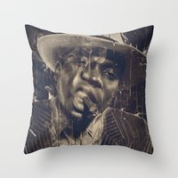 DARK SMOKE Throw Pillow