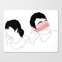 Short Leash Canvas Print