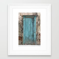 Positano Door Framed Art Print