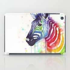Zebra Watercolor Rainbow Painting | Ode to Fruit Stripes iPad Case