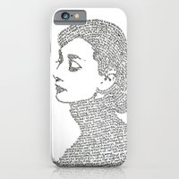 iPhone Cases featuring Audrey Hepburn by S. L. Fina