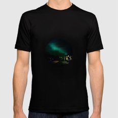 Northern Lights in Tromso Black SMALL Mens Fitted Tee