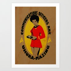 Uhura-mazing Art Print