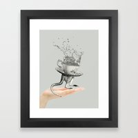 Out of my hand Framed Art Print