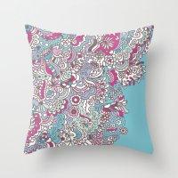 Flower Medley #2 Throw Pillow