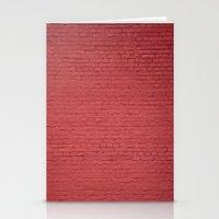 Red Bricks Wall6473 Stationery Cards