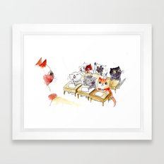 Kitten School Framed Art Print