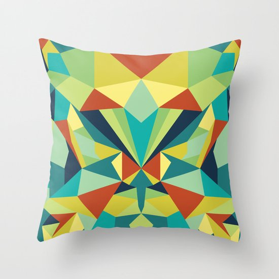 Colorful All Throw Pillow