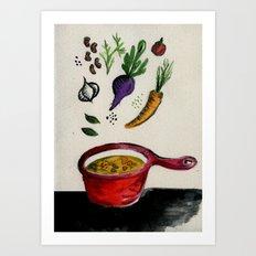 vegan soup is better! Art Print