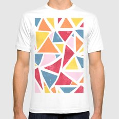 Misplaced. SMALL White Mens Fitted Tee