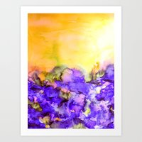 INTO ETERNITY, YELLOW AN… Art Print