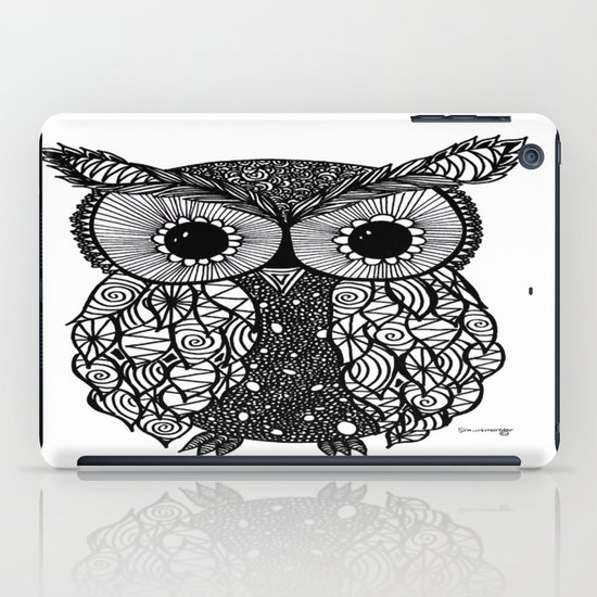 crazy owl iPad Case