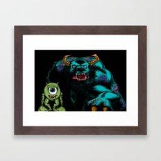 Mike & Sully (black)... Framed Art Print