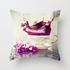 BLACK TEA Throw Pillow