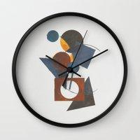 Constructivistic painting Wall Clock