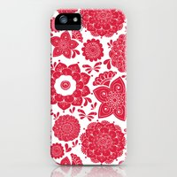 iPhone Cases featuring Red Floral  by A Southern Ladys Designs