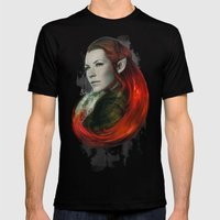 Head Of Elven Mens Fitted Tee Black SMALL