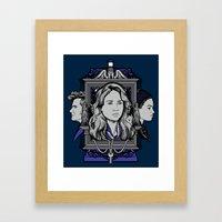 Weeping Sparrow Framed Art Print