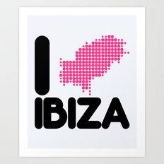 I Love Ibiza Quote Art Print