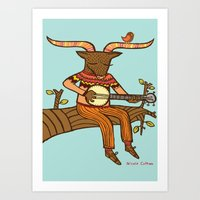 'Minotaurs Day Off' Art Print