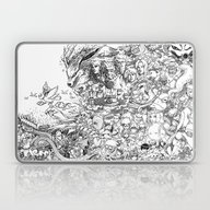 Laptop & iPad Skin featuring Naruto Characters Doodle by Jerameel Lu