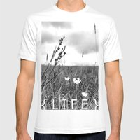 Life Mens Fitted Tee White SMALL