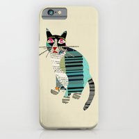 iPhone Cases featuring blackberry cat by bri.buckley