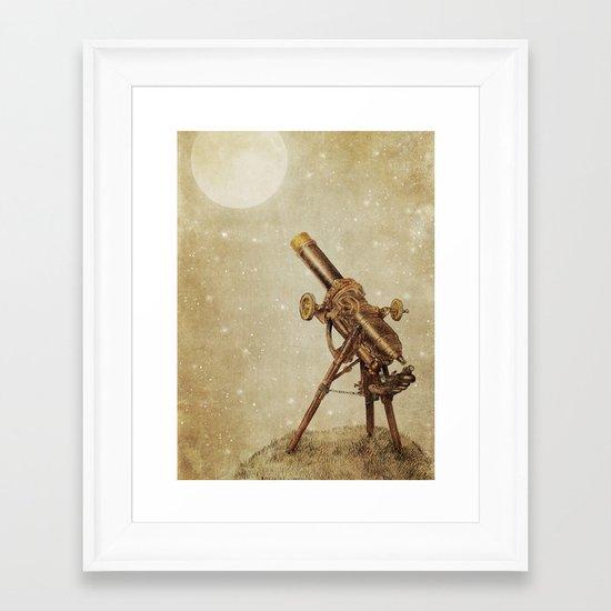 Moonrise (sepia option) Framed Art Print